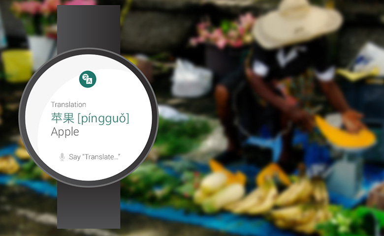 Android Wear translates foreign languages
